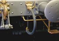 Bremsluftkupplungs-Armatur / Hahn RECHTS
