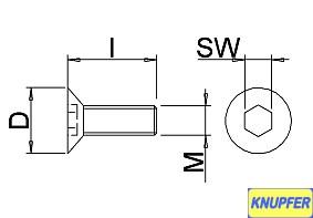 M 2 x 3 - verstärkte Schlüsselweite