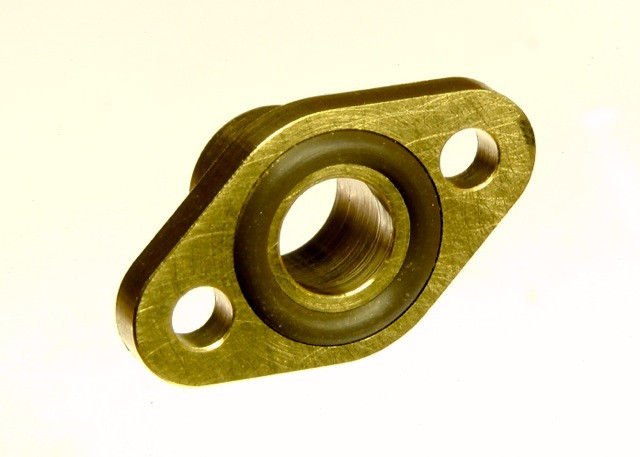 Flansch 6 mm mit O-Ring Dichtung