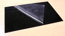 Polystyrol-Platte 2,0 mm mit Schutzfolie