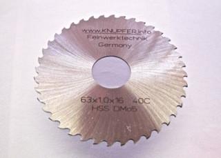 Grobzahnung 63 x 1,0 mm / Durchmesser x Breite