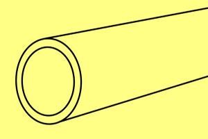 Außen D = 2,0 mm / Innen d = 1,1 mm